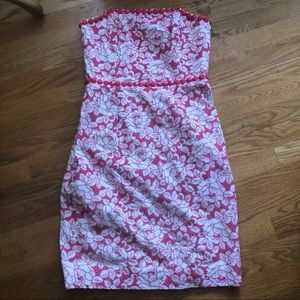 Lilly Pulitzer strapless stunning floral dress 4